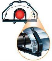 Vision infrasarkanā starojuma sildītāju konstrukcija